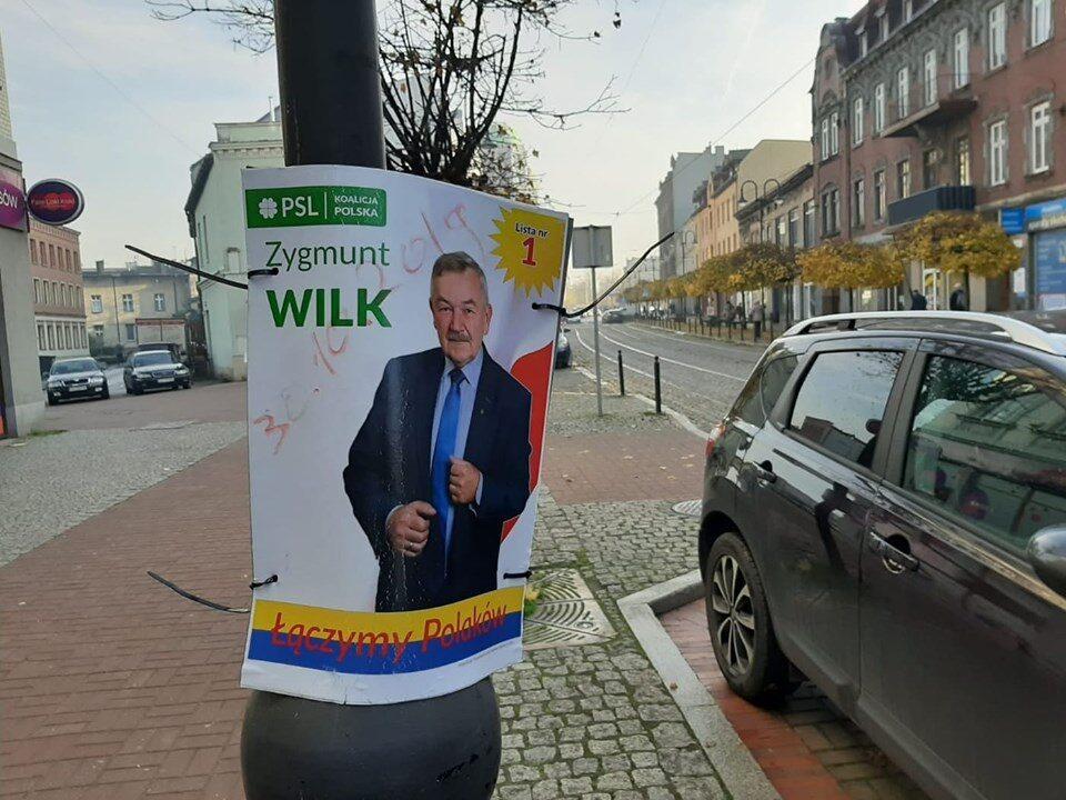 Zygmunt Wilk PSL nie posprzątał po wyborach